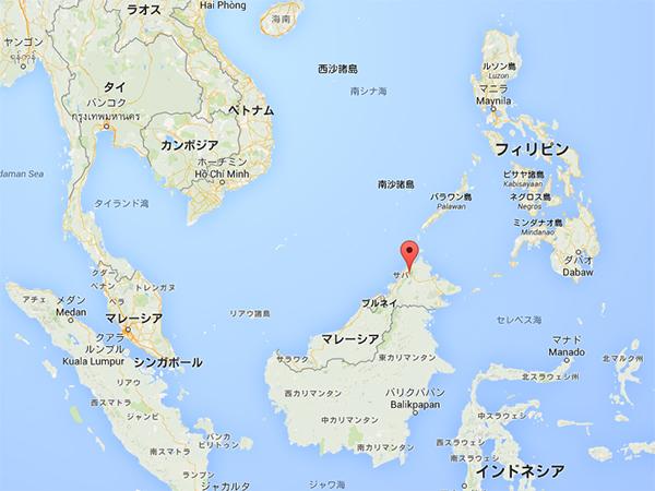 キナバル山 地図